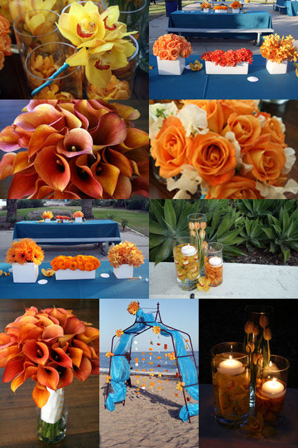 Teal And Orange Weddings