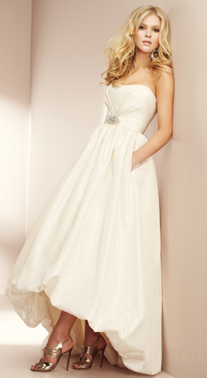 Bridal gowns and bridesmaids dresses are the perfect hand free alternative