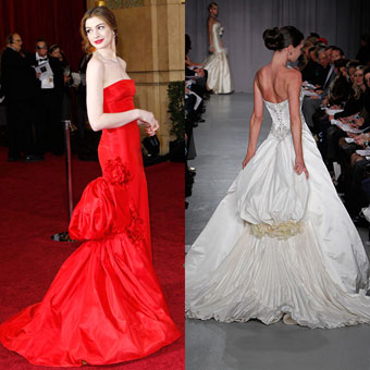 Oscar Inspired Wedding Gowns